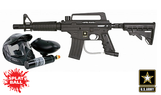 US Army Paintball Alpha Black Tactical