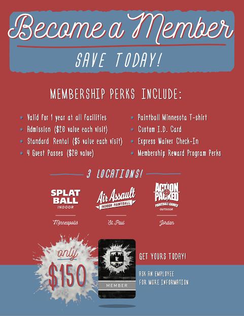 Paintball MN membership perks