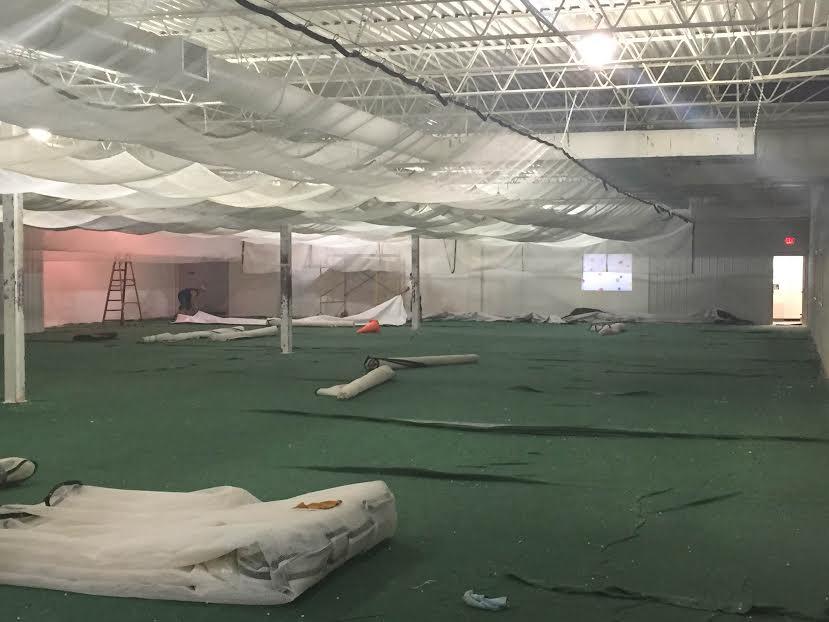 Splatball renovation turf