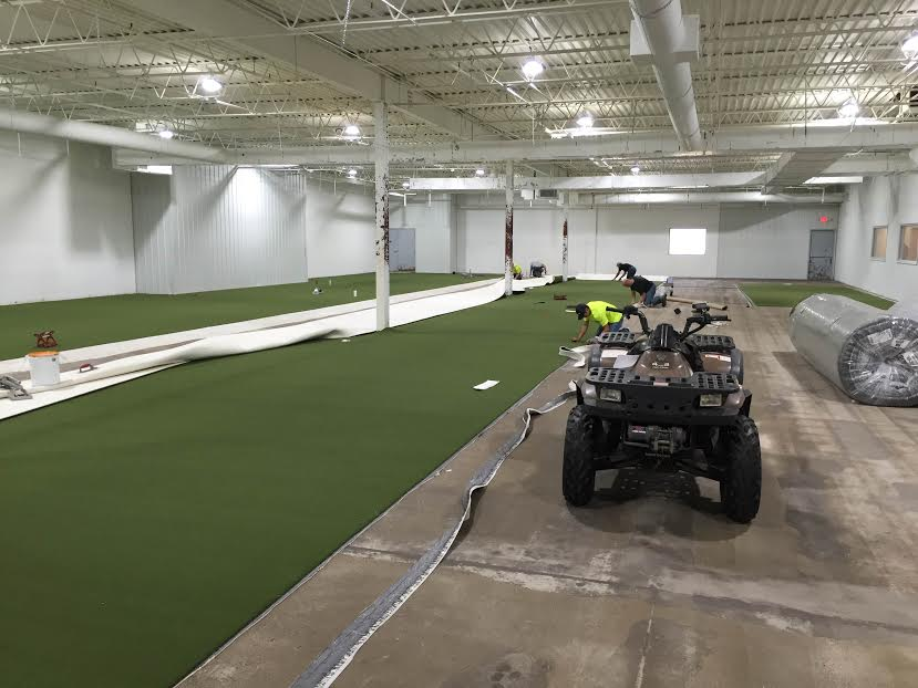 Splatball turf installation