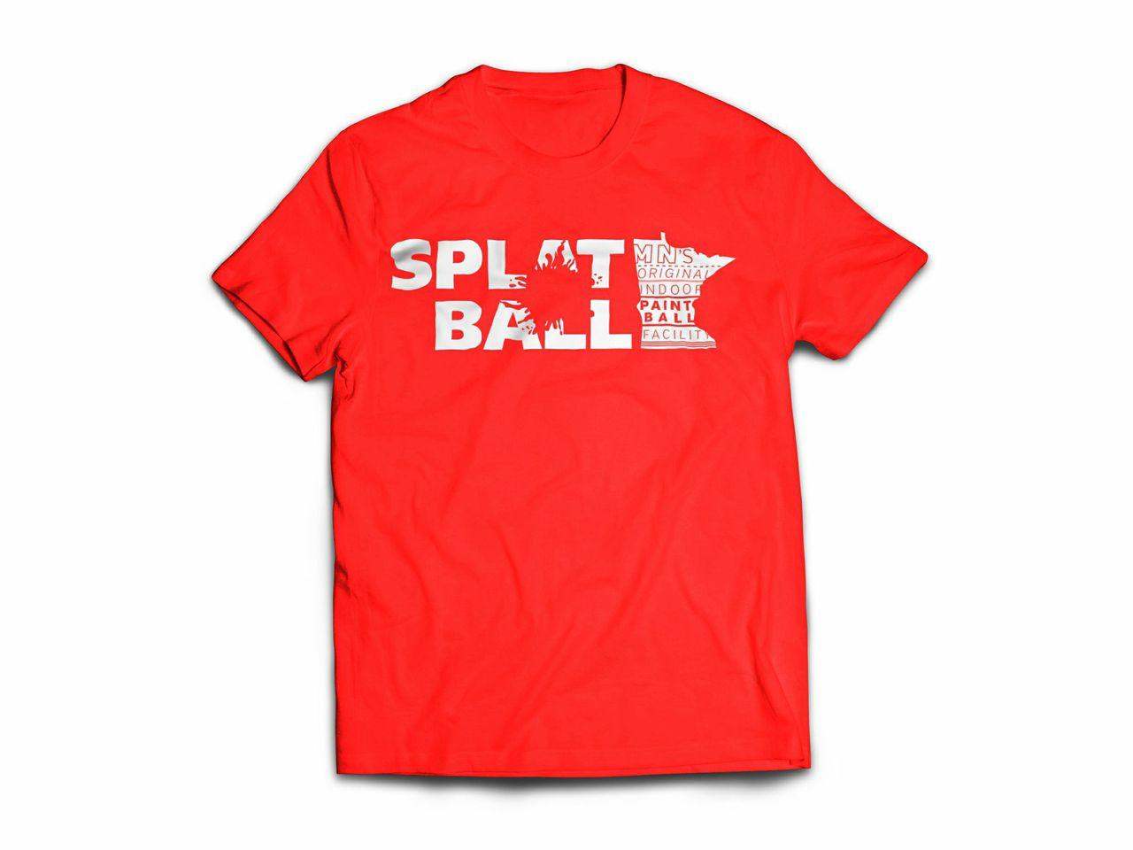 Splatball T Shirt New Design Splatball Indoor Paintball
