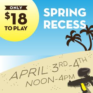 Spring Break paintball discount