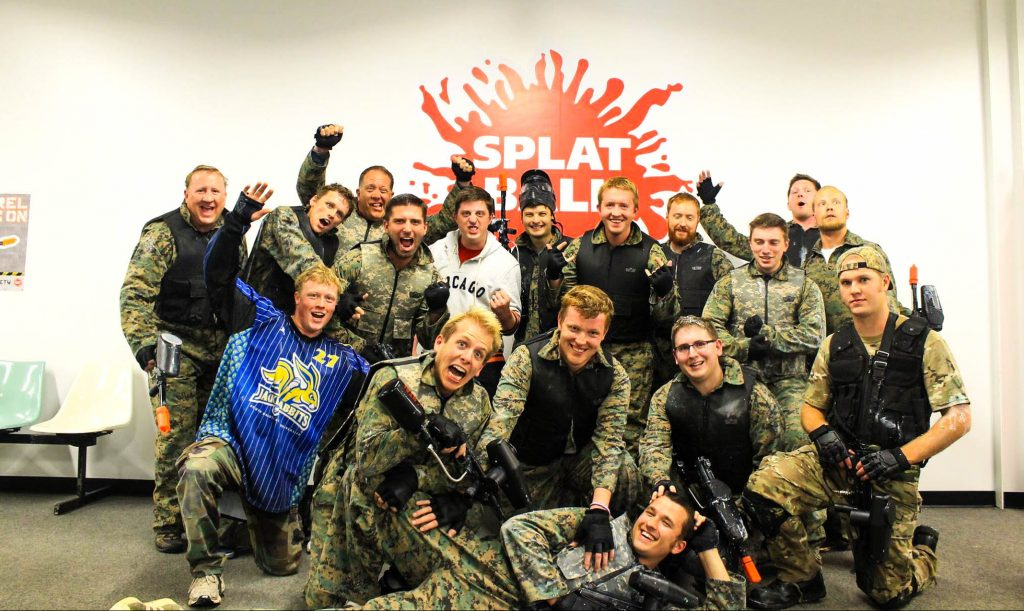 company paintball party